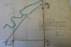1, Situationsplan der Lust u. Hofferbertchen Mühle v. 1856